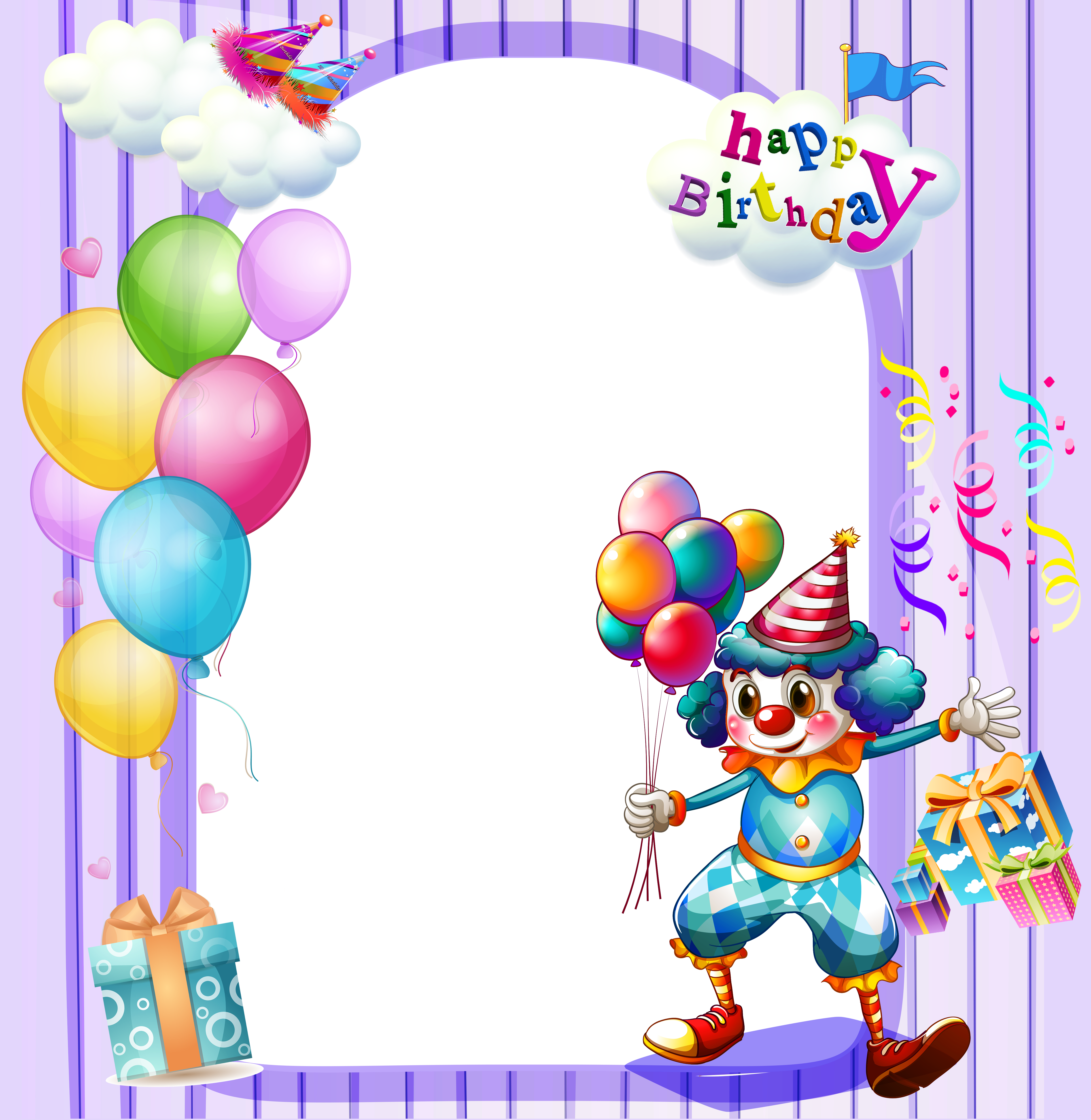 Happy Birthday Large Transparent Frame ClipArt Best ClipArt Best