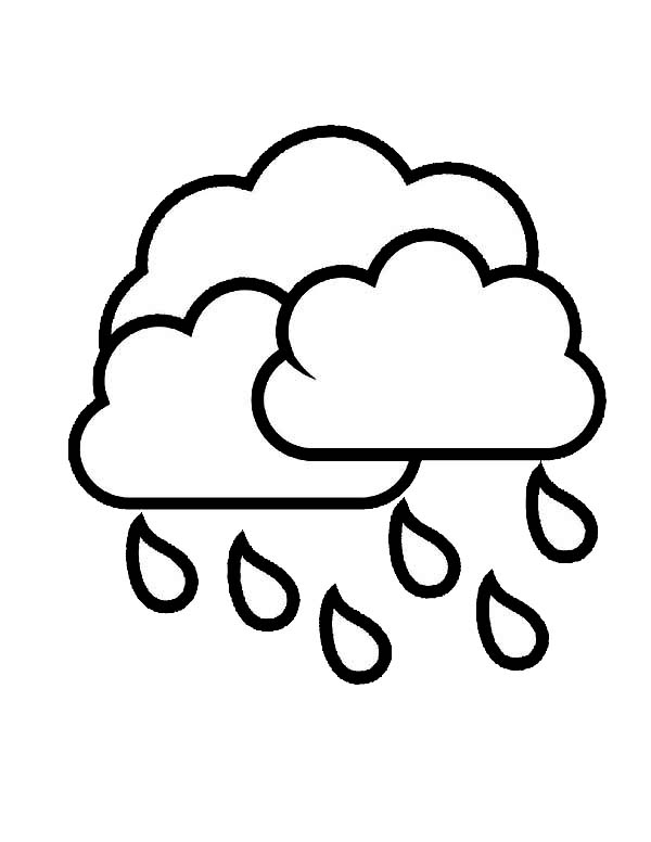 types of clouds coloring pages - photo#33