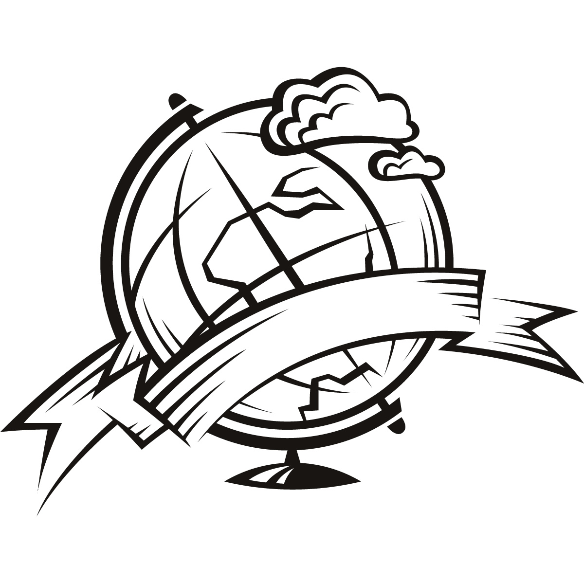 Line Drawing Globe : Globe line drawing clipart best