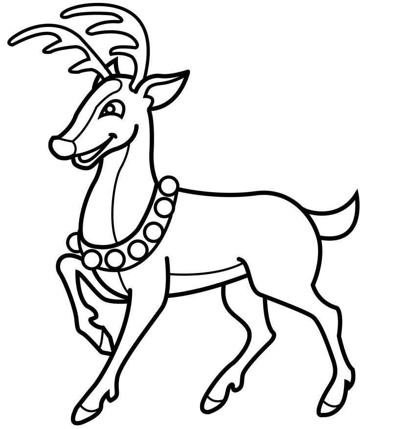 Reindeer Face Line Drawing : Reindeer drawing clipart best