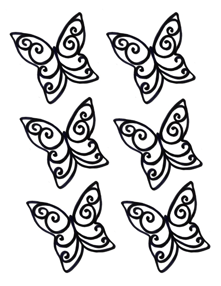 Chocolate Cake Decoration Templates : Chocolate Butterfly Template - ClipArt Best