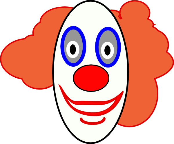 Creepy Clown Face clip art - vector clip art online, royalty free ...