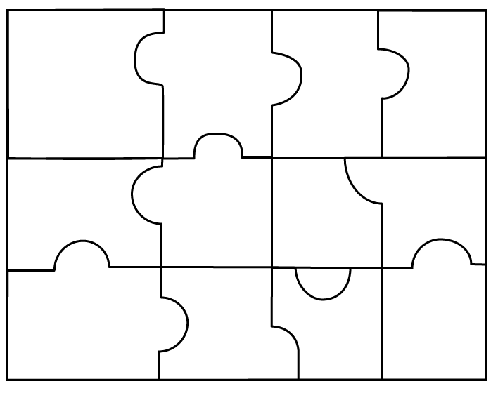 Puzzles templates clipart best for Large blank puzzle pieces template