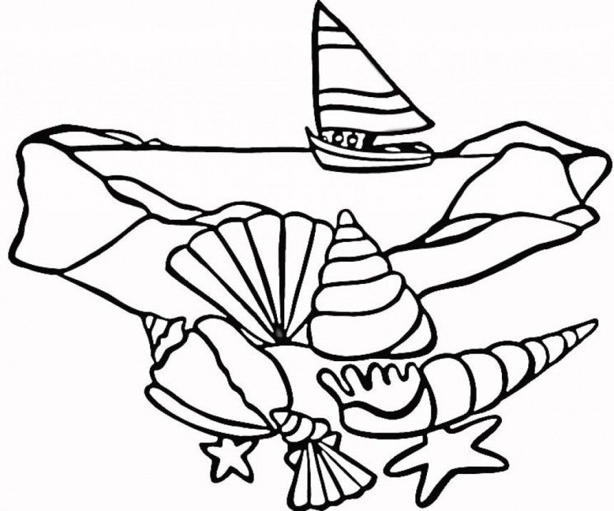 Printable Seashell Coloring Pages - AZ Coloring Pages