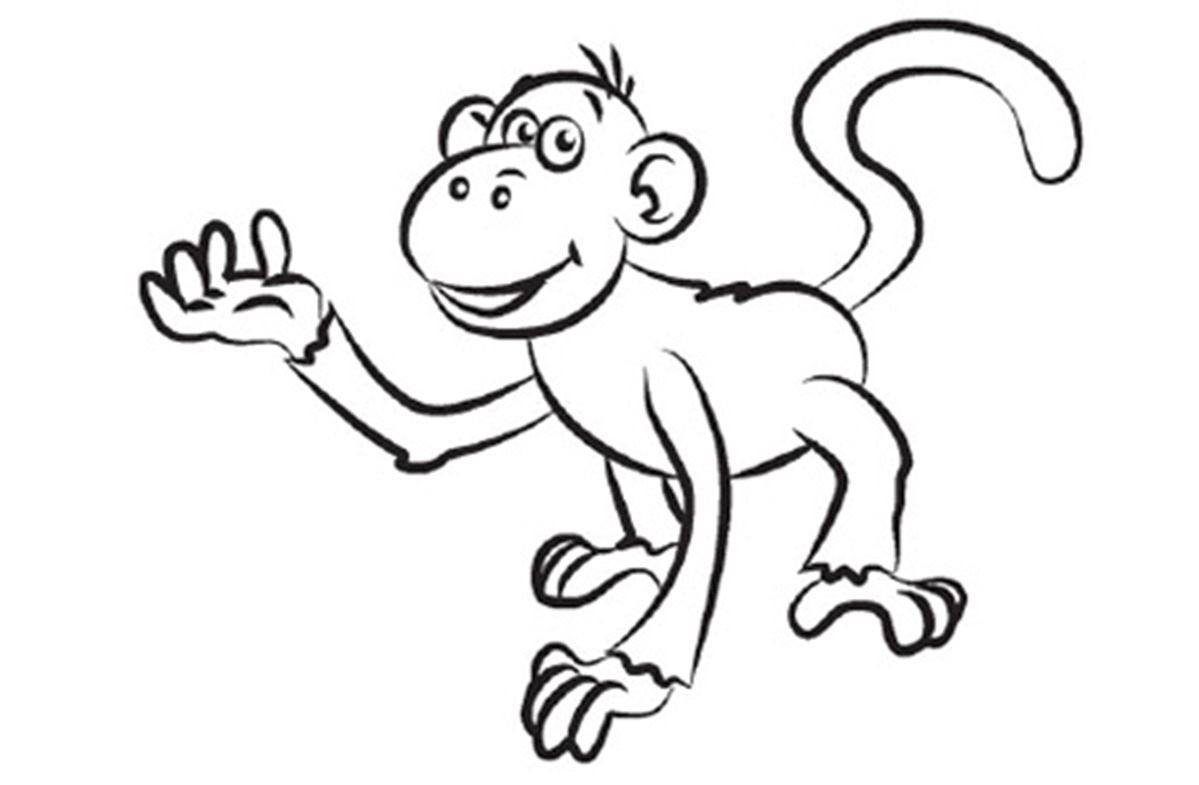 Line Drawing Monkey : Monkey line drawing clipart best