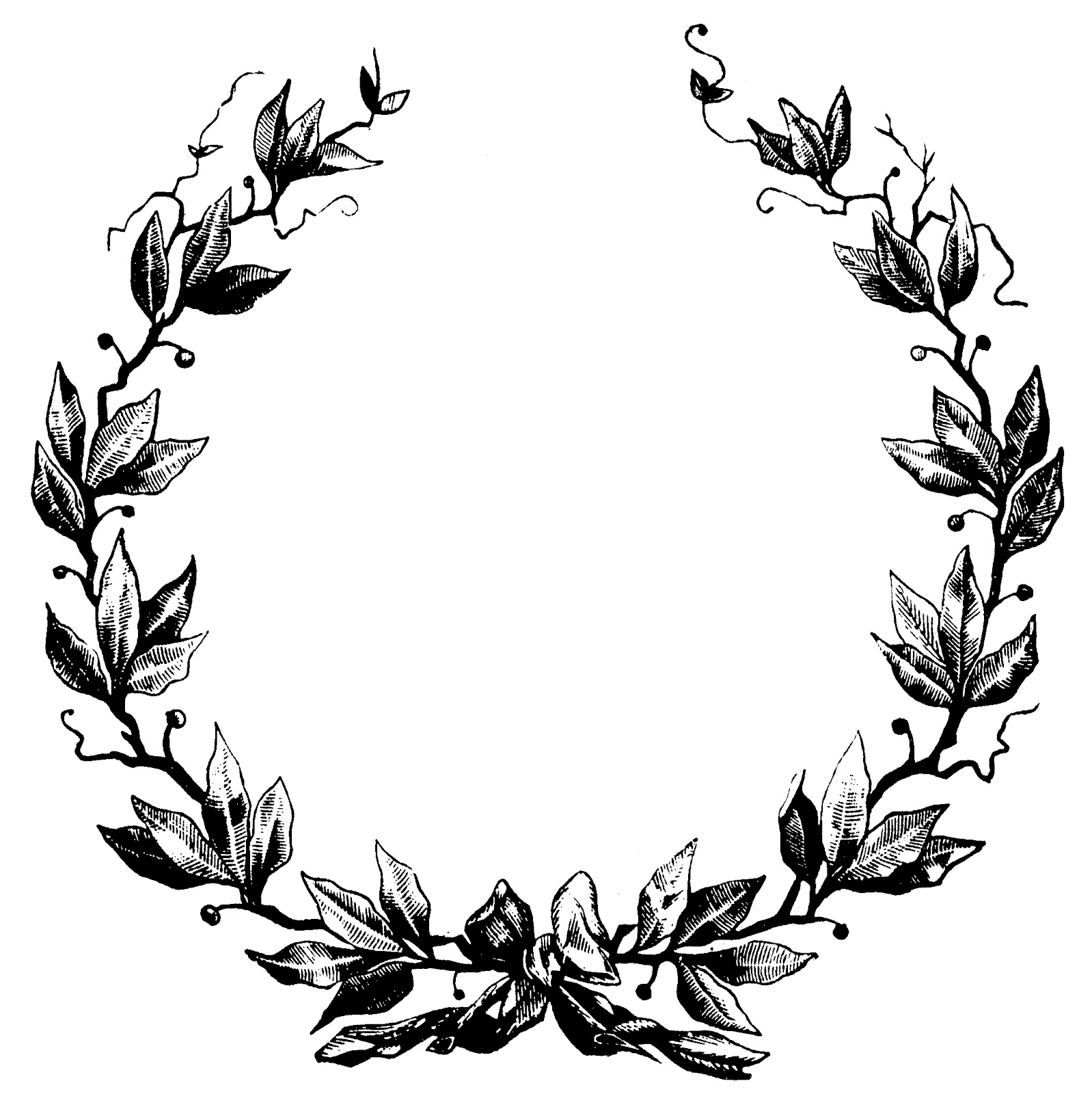 VintageFeedsacks: Vintage Oval Frame and Wreath - ClipArt ...