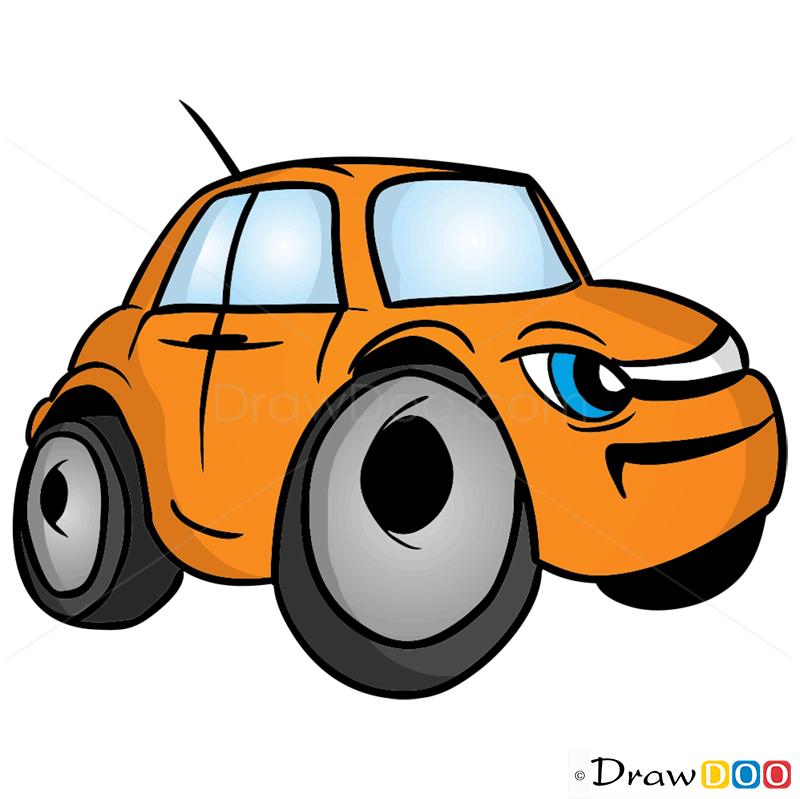orange car cartoon   clipart best