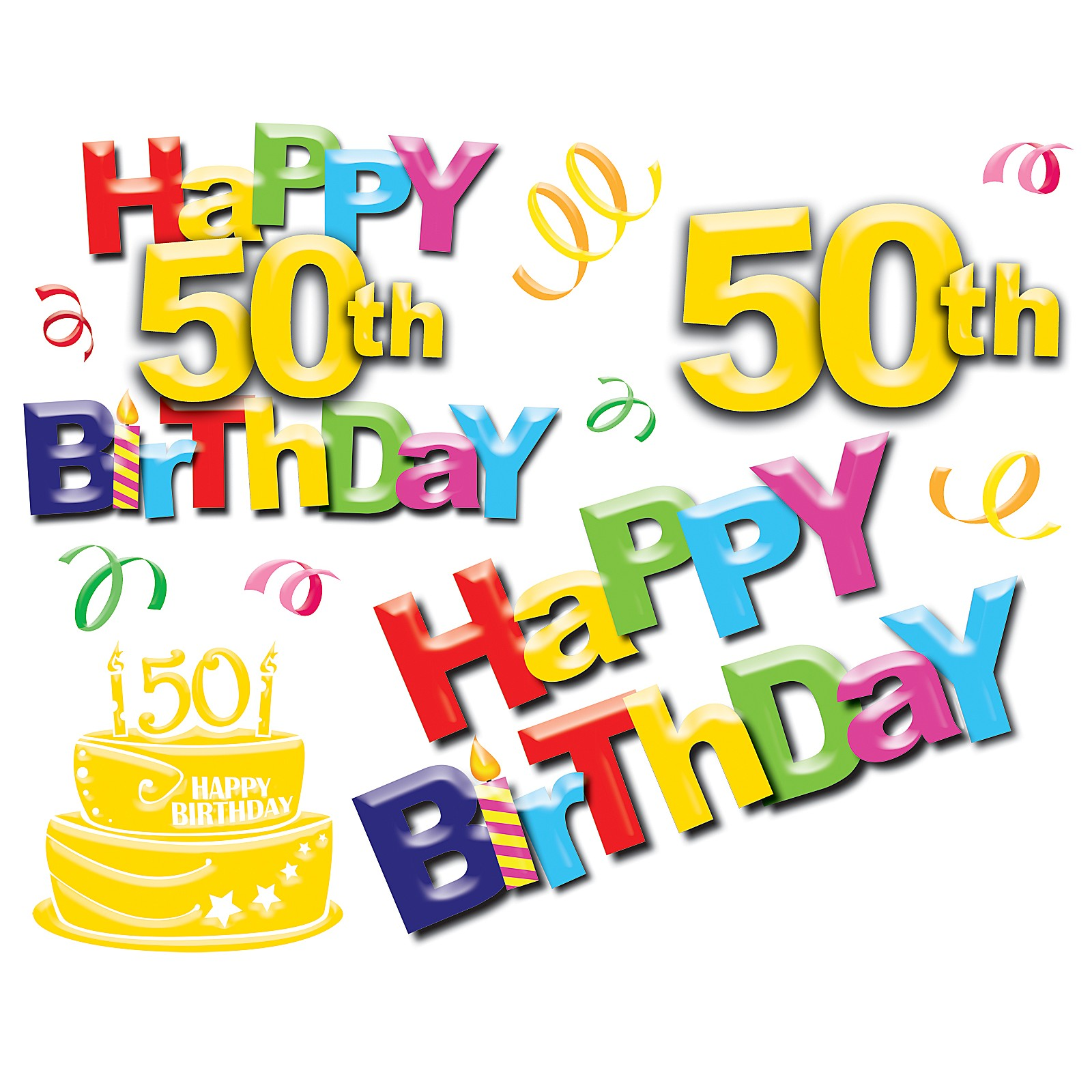 50th Birthday Clipart Clip Art Page 4 Images Cake