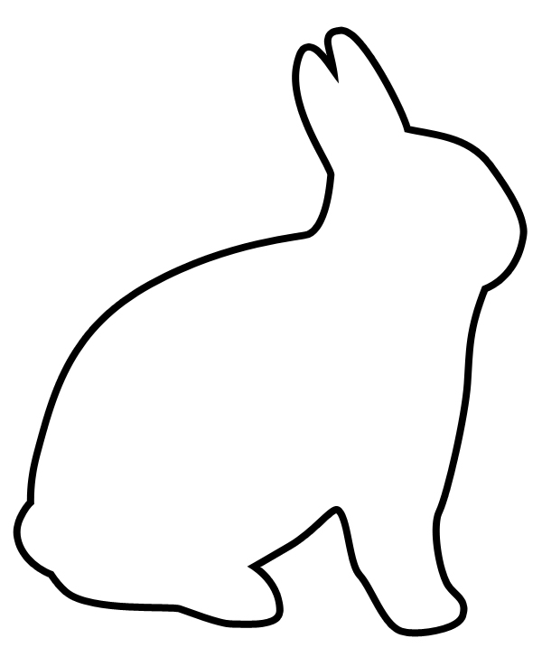 Easter Bunny Rabbit Template - ClipArt Best