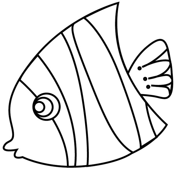 Tropical Fish Outlines