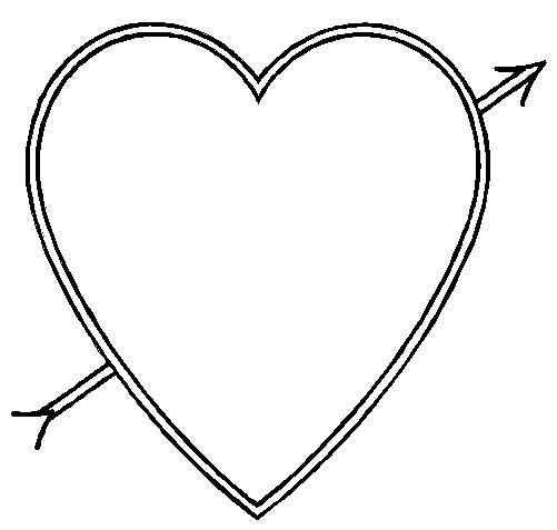 Line Drawing Heart : Line drawing heart clipart best