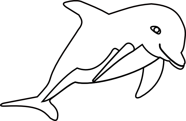 Line Art Dolphin : Dolphin line drawing clipart best