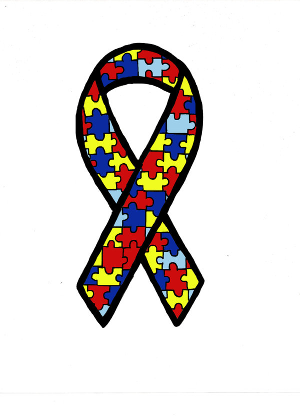 Autism Awareness Ribbon Clip Art Black And White - ClipArt ...