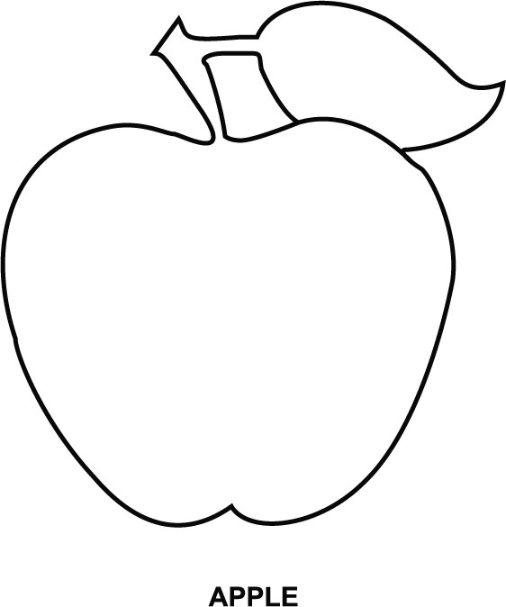 Colouring Images Of Apple Clipart Best