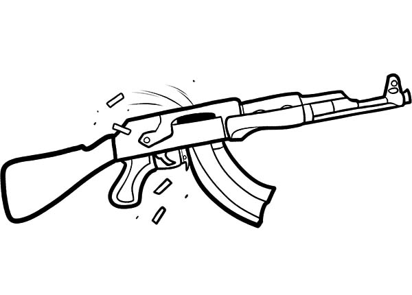 Ak 47 Drawing Clipart Best