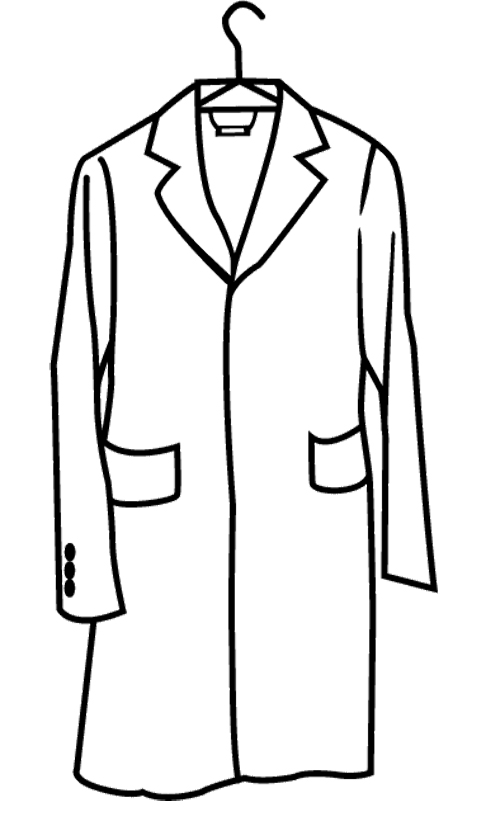 coloring pages of winter coat - photo#22