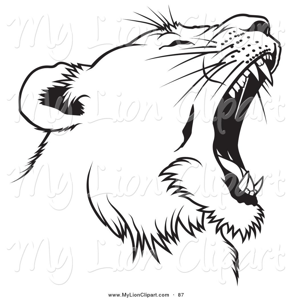 Line Drawing Lion Head : Lion line art clipart best