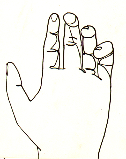 D Line Drawing Of Hand : Line drawing of hand clipart best