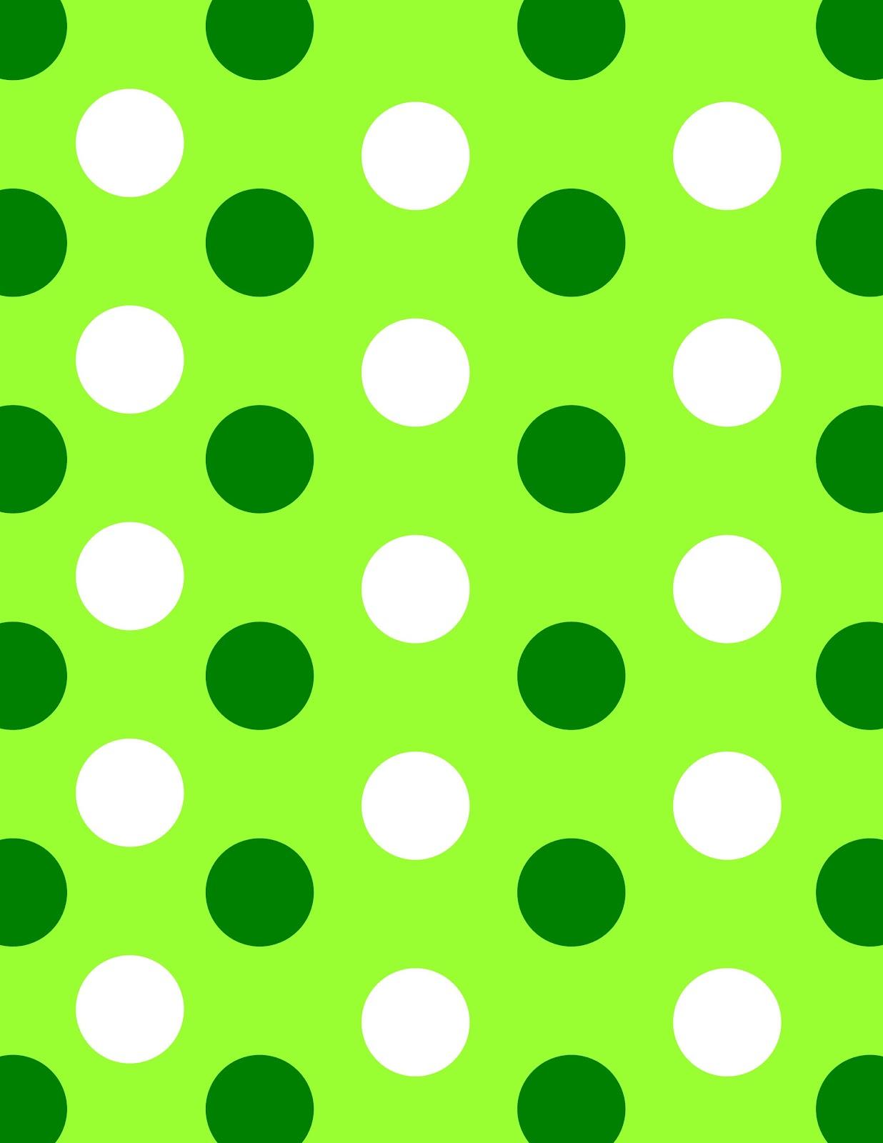 green polka dot border clipart best