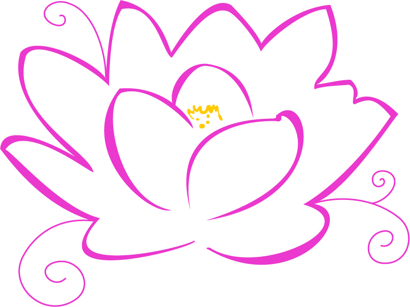 lotus flower border stencil pic inspiritoo