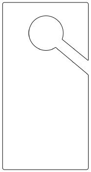 door hanger template clipart best clipart best. Black Bedroom Furniture Sets. Home Design Ideas
