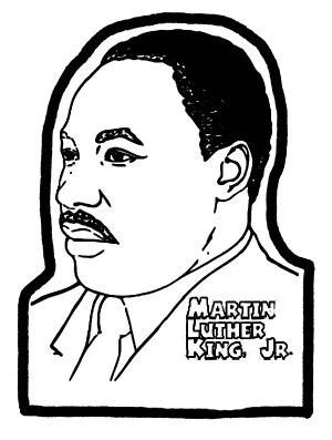 Martin Luther King Silhouette ClipArt Best