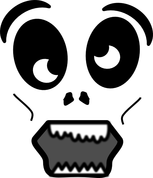 Scary Face Clipart Scary Cartoon Faces