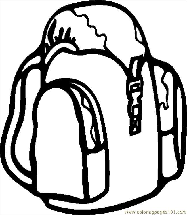 Backpack Coloring Sheet - AZ Coloring Pages