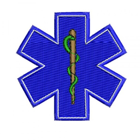 EMS Star Of Life SOL Symbol Embroidery Design Clipart - Free to ...