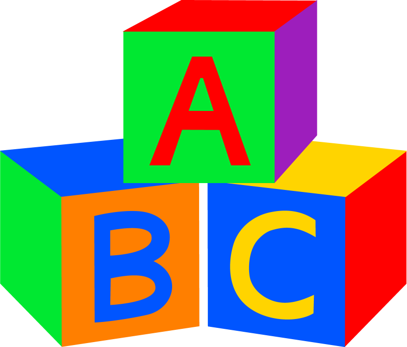 baby building blocks clipart abc block letters clipart