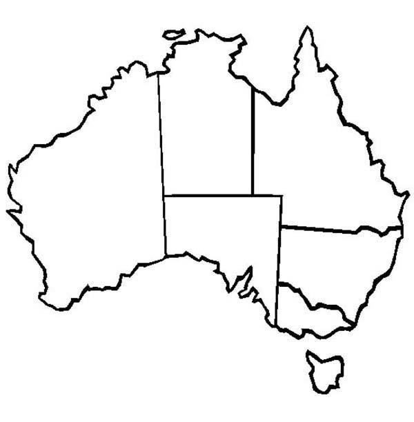 White Australian Map ClipArt Best – Blank Map of Australia