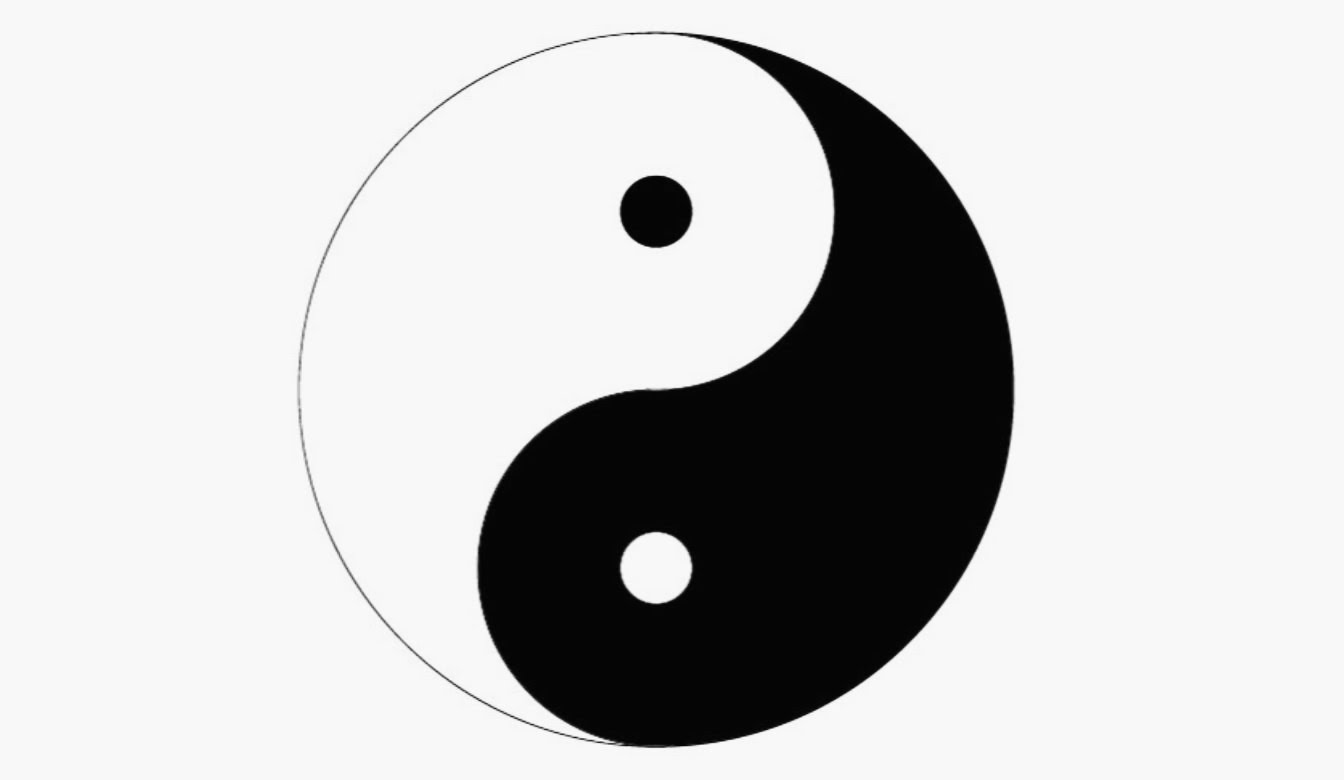 Yin yang drawings clipart best for Bett yin yang