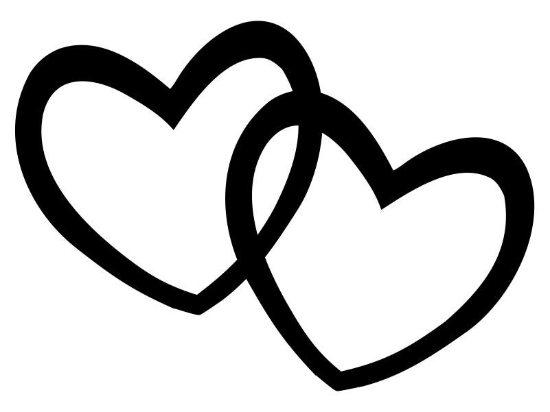 Black And White Heart Clipart - Tumundografico