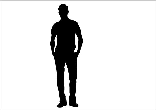Silhouette Man Standing - ClipArt Best