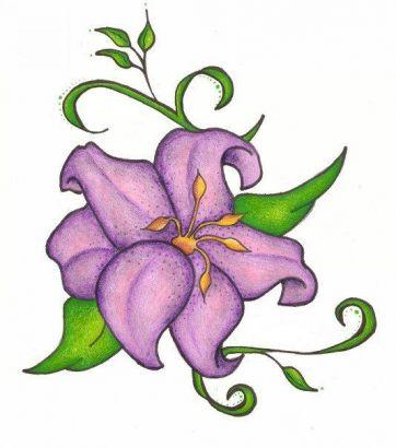 free tattoo lily flower tattoo best flower tattoo designs clipart best clipart best. Black Bedroom Furniture Sets. Home Design Ideas