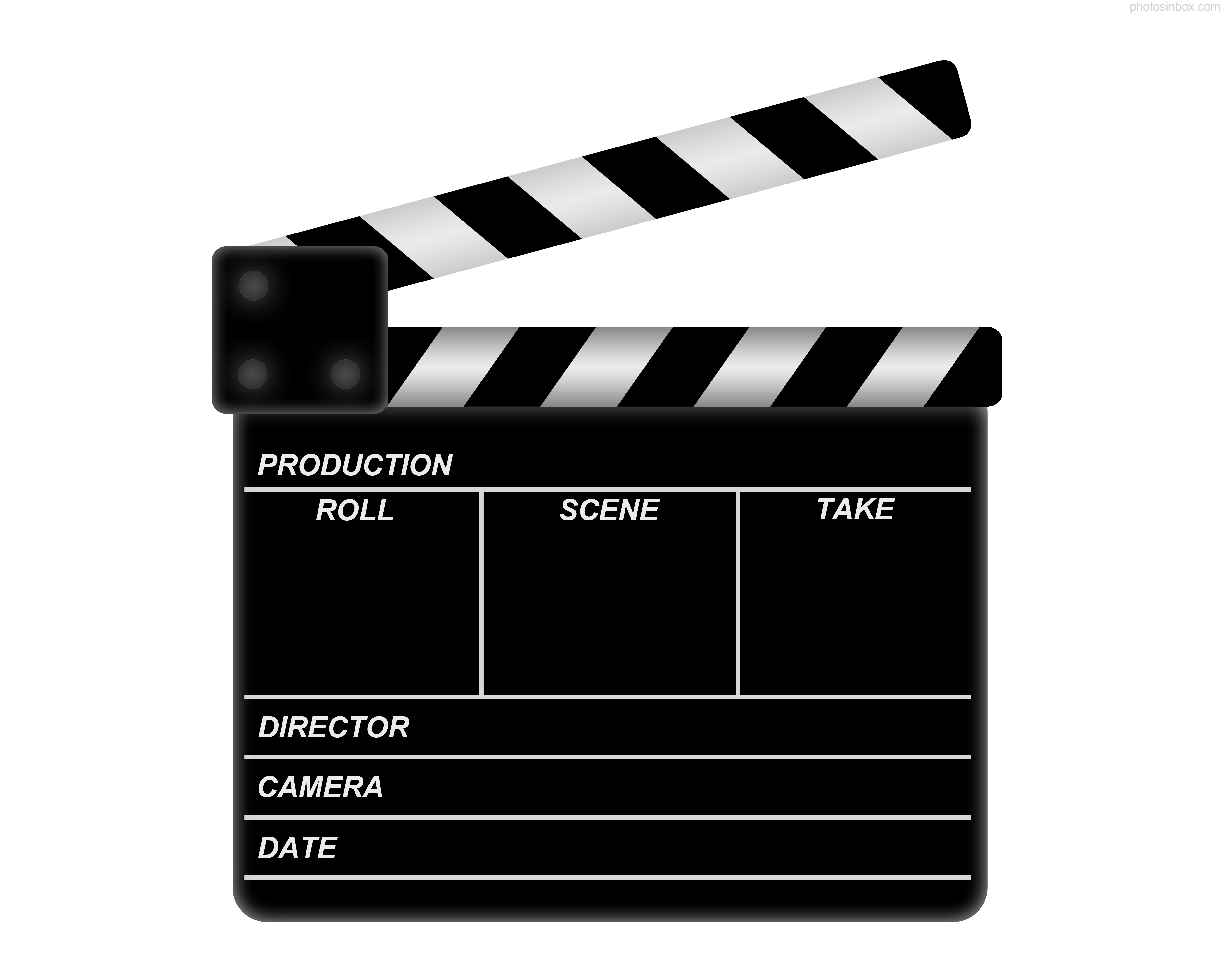 15 movie clapboard free cliparts that you can download to you computer ...