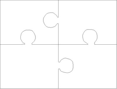 4 Piece Jigsaw Puzzle Template Jigsaw Puzzle Templates