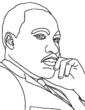 Martin luther king jr kindergarten coloring sheets