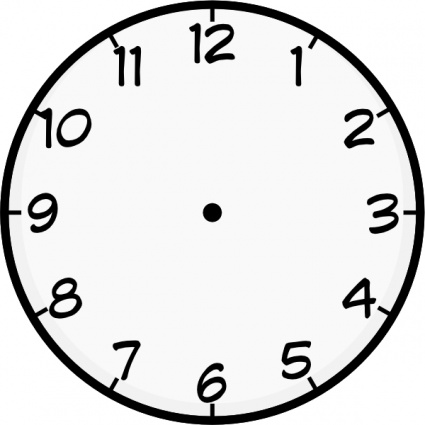 Blank Clockface - ClipArt Best