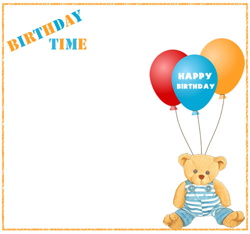 Border For Birthday Invitation WITH ANIMATION ClipArt Best – Birthday Invitation Border