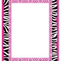 Free Zebra Print Border - ClipArt Best