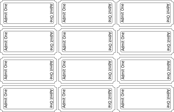 Blank Printable Ticket TEMPLATES ClipArt Best – Tickets Template