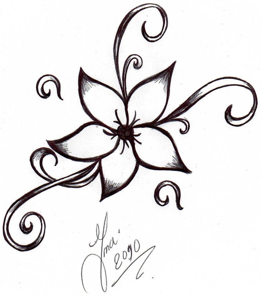unique flowers drawing clipart best