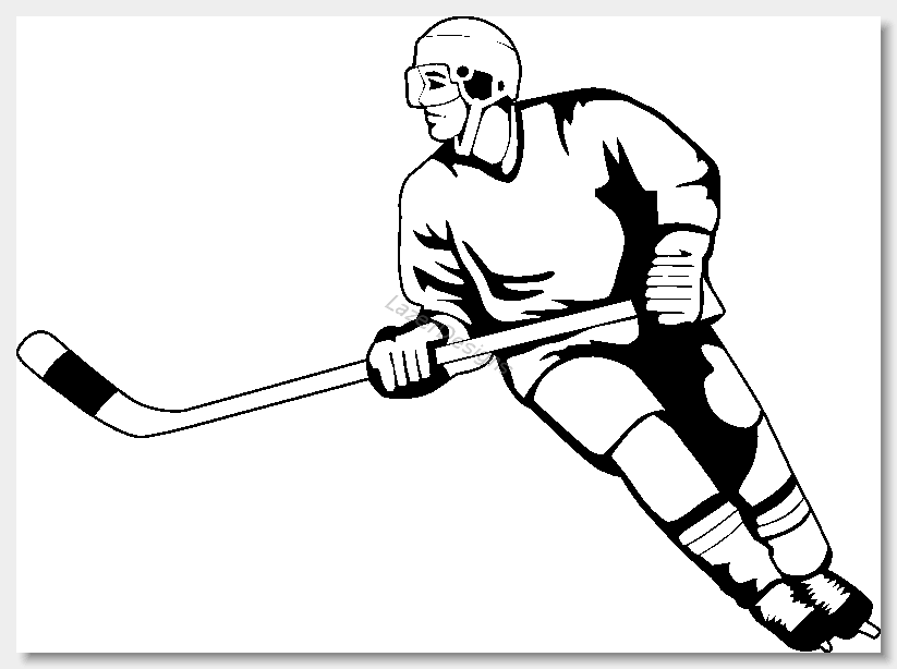 Street hockey clipart