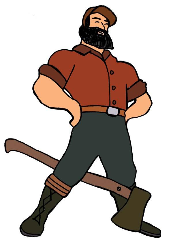 paul bunyan clipart clipart best Babe the Blue Ox Clip Art Lumberjack Clip Art