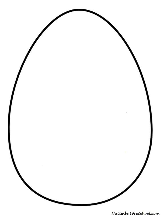 easter egg coloring page template