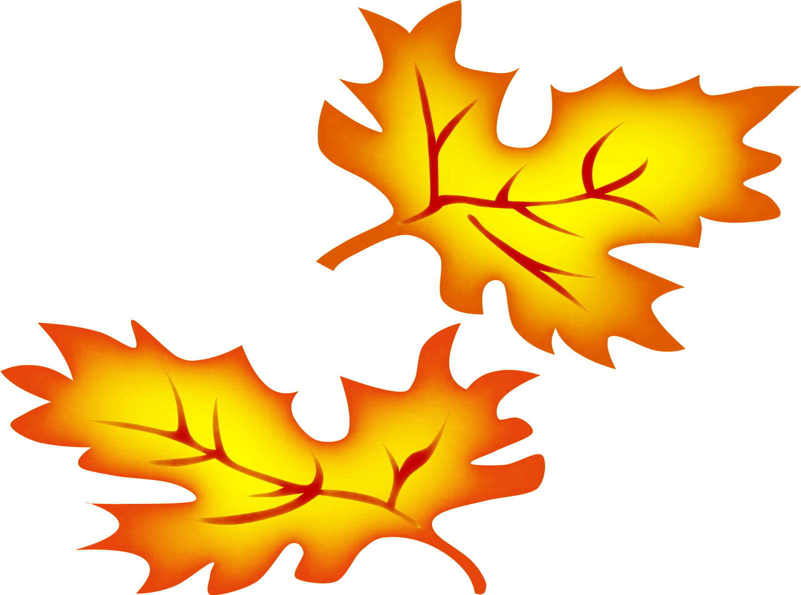 Falling Autumn Leaves Clipart