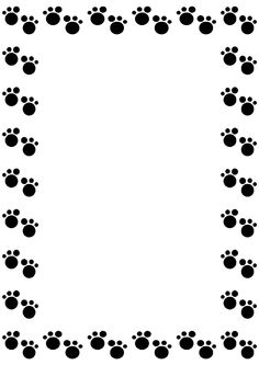 Dog Footprint Borders - ClipArt Best
