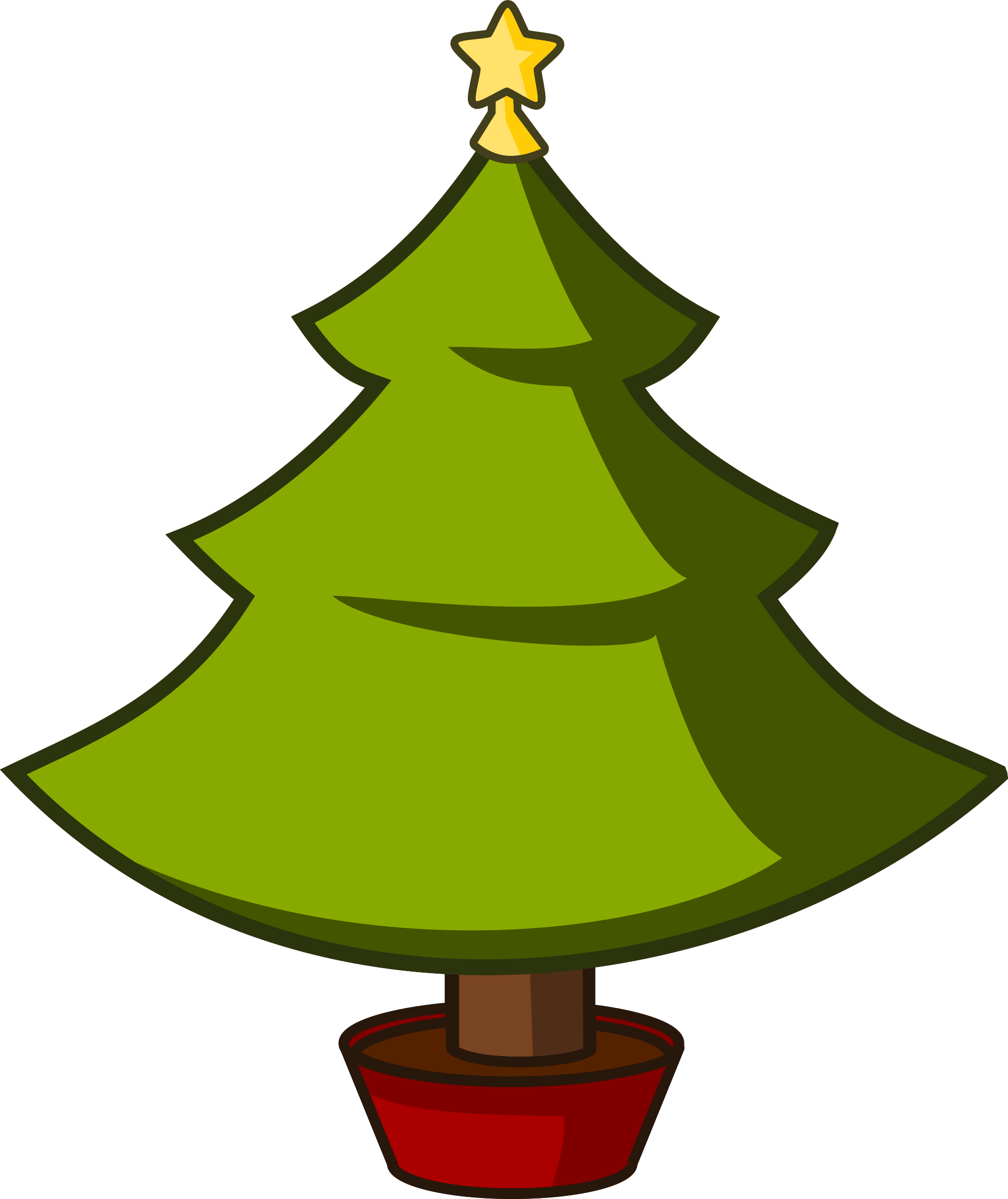 Cartoon Christmas Tree - ClipArt Best