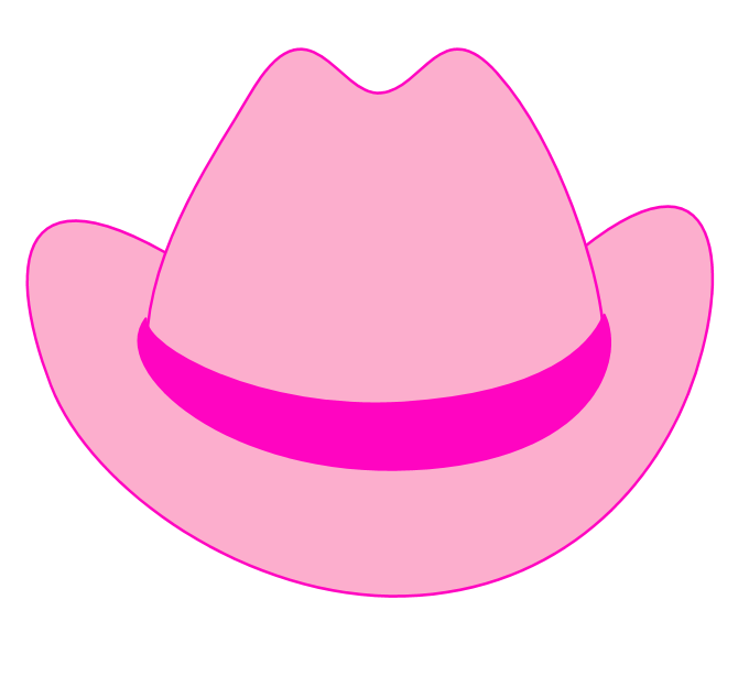 Pink Cowgirl Hat Clip Art - ClipArt Best